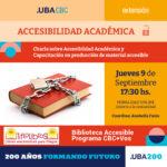 Charla online sobre Accesibilidad Academica 2021