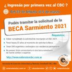 Beca Sarmiento Ingresantes 2021