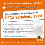 Beca Sarmiento Remanentes 2020