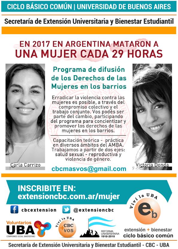 Programa Difusión de los Derechos de las Mujeres en los Barrios