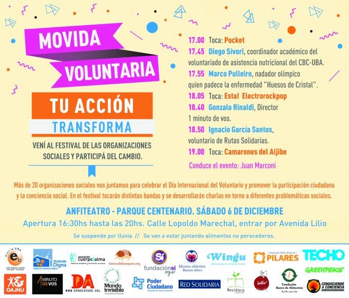 Dia del Voluntario - cronograma