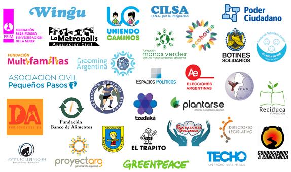 Logos de las ONGs participantes