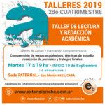 Taller de Lectura y Redacción Académica – Sede Paternal