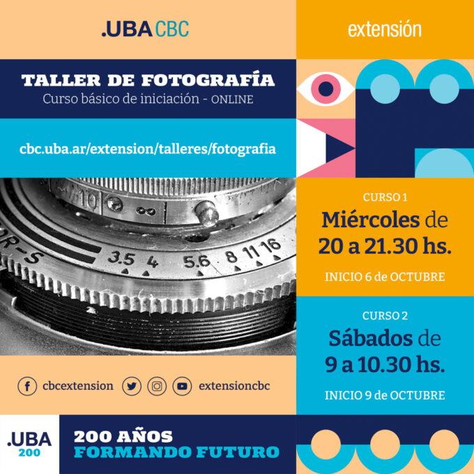 Taller de Fotografía segundo cuatrimestre 2021