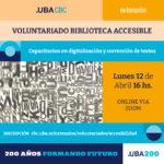 Voluntariado Biblioteca Accesible 2021