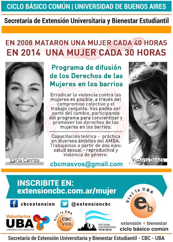 Programa de Difusión de los derechos de las mujeres en los barrios