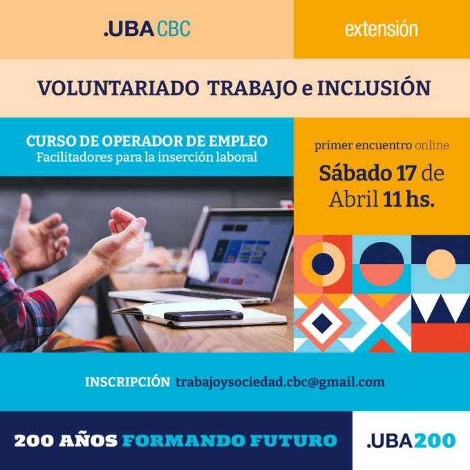 Voluntariado Trabajo e inclusión - primer cuatrimestre 2021