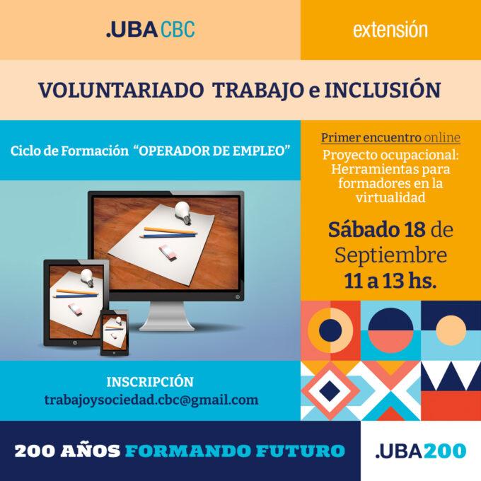 Voluntariado Trabajo e inclusión - segundo cuatrimestre 2021