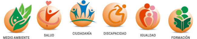 areas CBC+Vos: Medio ambiente, Salud, Ciudadanía, Discapacidad, Igualdad y Formación