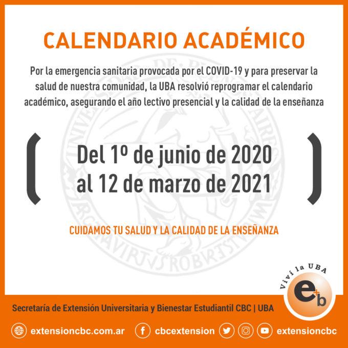 calendario académico reprogramado