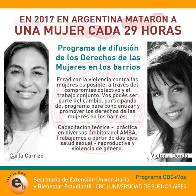 Programa orientado a la Difusión de los Derechos de las Mujeres en los Barrios