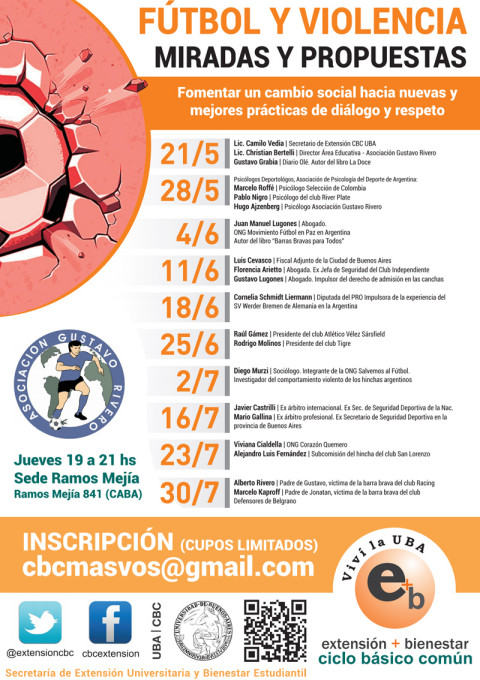 cronograma futbol y violencia