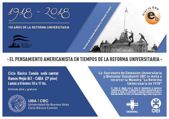 muestra Reforma Universitaria de 1918