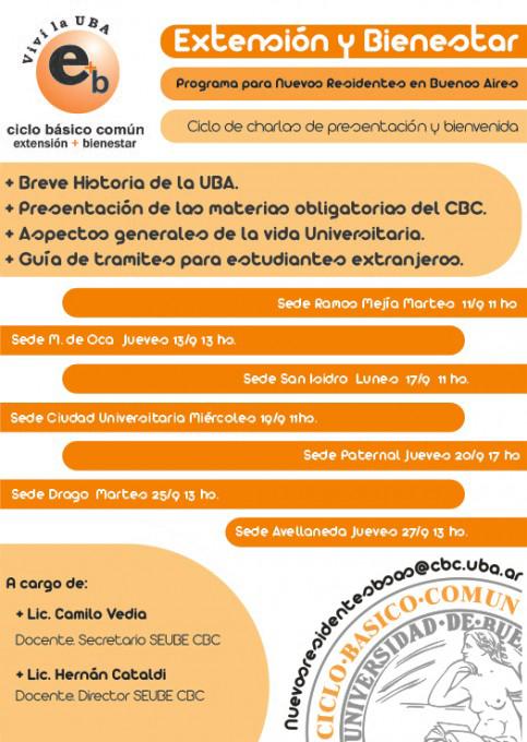 Afiche Charla de presentación Nuevos Residentes en Buenos Aires