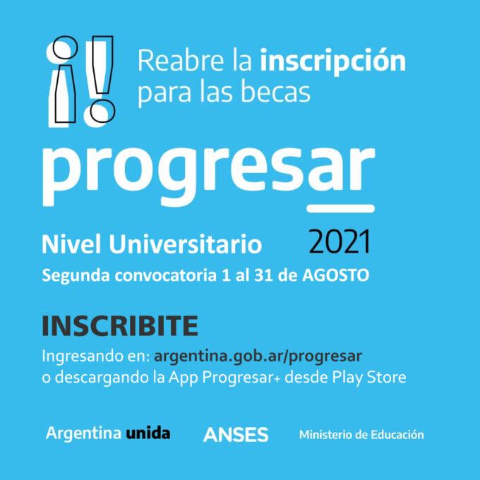 progresar 2021 - segunda convocatoria