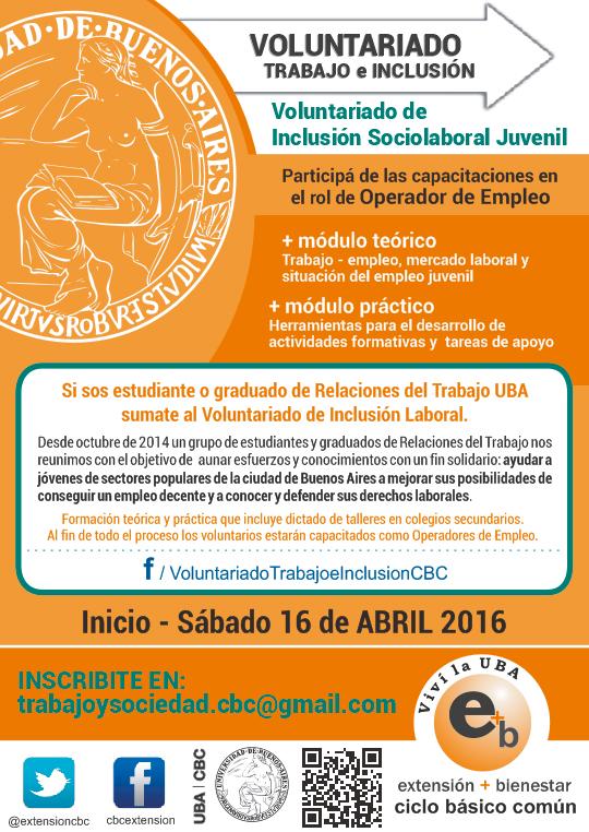 voluntariado Trabajo e Inclusión 2016