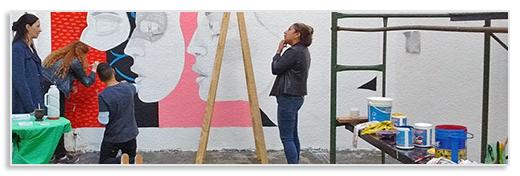 Voluntariado Arte - pintando mural